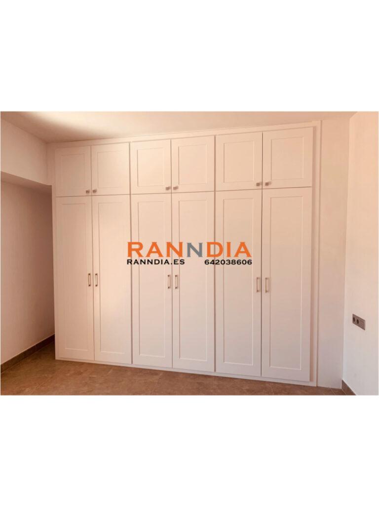 armarios abatible blanco con puertas benalmadena